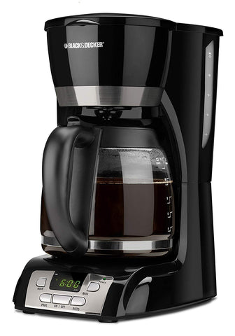 BLACK+DECKER 12-Cup Programmable Coffee Maker Black Non-Stick Carafe Plate