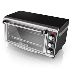 BLACK & DECKER TO3250XSB 8-Slice Extra Wide Convection Countertop Toaster Oven, Includes Bake Pan, Broil Rack & Toasting Rack, Stainless Steel/Black created