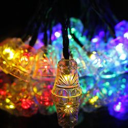 16ft Outdoor Strings of Solar Lights 20 Bell Shaped LED  for Christmas Home Lawn Parties