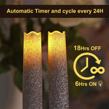 "9"" LED Taper Candle (Set of 3) for Holiday, Party, Wedding Decoration, 9"", Silver"