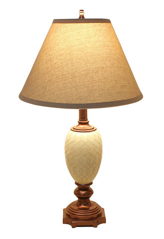 "25"" Ivory Traditional Table Lamp"