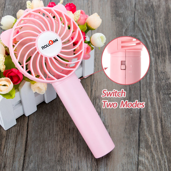 Portable USB Rechargeable Fan 18650 Battery 2000mah Handheld Personal Summer Outdoor