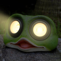 "10"" Solar Powered Garden Solar Frog Decor Lights Outdoor Color Changing (Frog)"