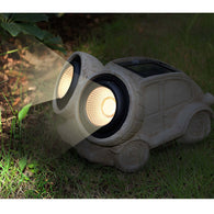 "10"" Solar Powered Garden Solar Car Head Lights Outdoor Color Changing (Car)"