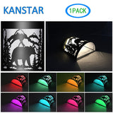 "Kanstar 6"" SMD-LED Solar Powered Color Changing Mount Night Light Outdoor waterproof Landscape Garden Yard Fence White (Bear)"