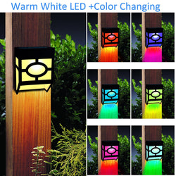 Kanstar Solar Powered Color Changing Mount Light Outdoor Landscape Garden Yard Fence