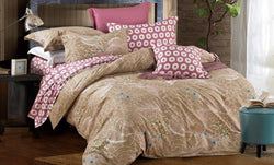 100% cotton reactive printing duvet cover set -Fall