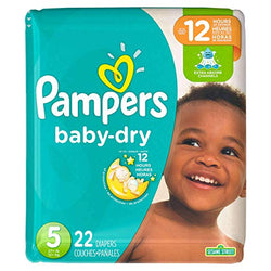 Pampers Baby Dry Diapers - Size 5, 22 ct