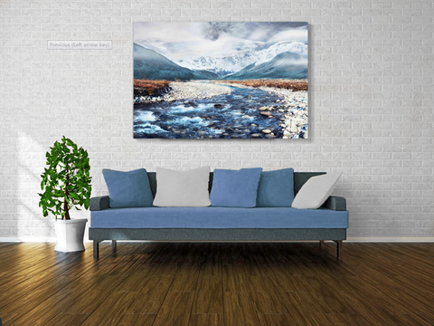 Kanstar Snow Mountain Canvas Wall Art 24''x36'' Panels Wall Pictures Canvas Prints Artwork for Living Room, Home, Bedroom Decoration