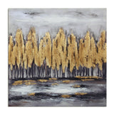 Kanstar Canvas Wall Art - Abstract Aspen Tree Giclee Print Gallery Canvas Wrap Modern Home Decor Ready to Hang