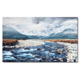 Kanstar Street Snow Mountain Canvas Wall Art 32''x48'' Panels Wall Pictures Canvas Prints Artwork for Living Room, Home, Bedroom Decoration