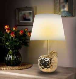"19"" Ceramic apple Gold/Silver Finish Table Lamps with shade"