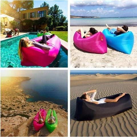Remarkable Air Lounger Fast Inflatable Bag Air Bed Couch Sofa Portable Waterproof Furniture Bralicious Painted Fabric Chair Ideas Braliciousco
