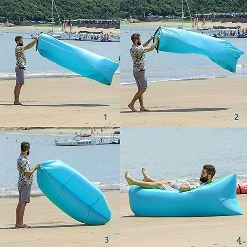 Air Lounger Fast Inflatable Bag Air Bed Couch Sofa
