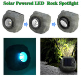 "6"" SOLAR POWERED GARDEN SOLAR ROCK LIGHTS OUTDOOR COLOR CHANGING A"