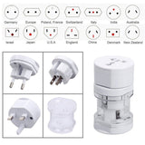All in one International Universal Power Adapter Electric Converter US/AU/UK/EU White USB Travel Plug