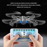 8807 Drone WIFI FPV RC Quadcopter HD Camera Foldable 2.4G 4CH Altitude Hold Selfie Fold Mini UFO Toys For Kids and Adults,with Battery 900MAH 3.7V (A)