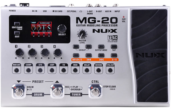 NuX MG-20 Guitar Modeling Processor