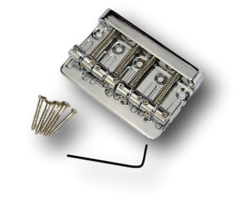 4 String Bass Hard Tail Fixed Bridge with Wrench Chrome HB4B(CM)