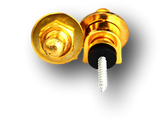 Pack of 2pcs Plated Round Head Guitar Strap Lock Buttons  SL3 Gold