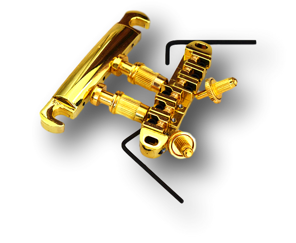 Tailpiece Tunomatic Bridge Stopbar Set for Gibson LP Epiphone Guitar Super Gold BLP2(GD)