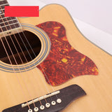Taylor Style Self-Adhesive Folk Acoustic Guitar Pickguard Scratch Plate Pick Guards, Dark Brown Tortoise