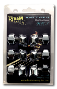 Dream Maker Guitar Tuning-Peg-Round220-3L3R 6 Pieces 3L3R Die-Cast Package