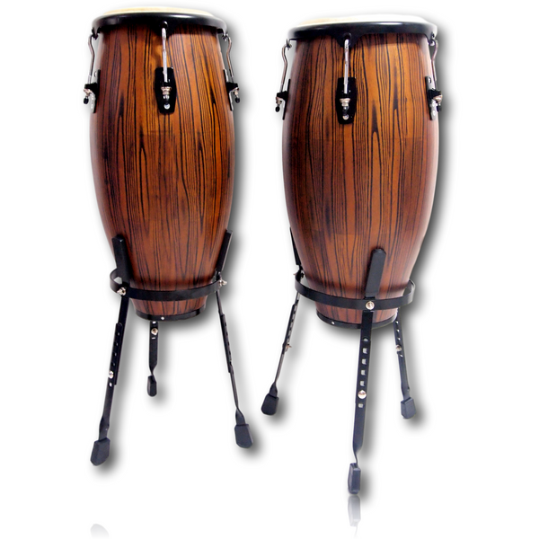 Echoslap  Congas Artists Series Burnt Toast + Basket Stand