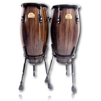 Echoslap Congas Artists Series Ebony + Basket Stand