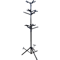 BAS 9-Guitar Hanging Tree Stand Black D10