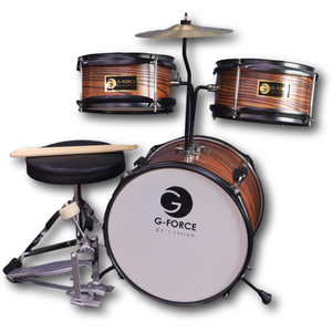 G-Force 13 Inch Junior Children Drum Set 3 Piece Child Kids Wood Color