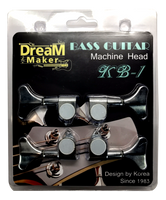 Dream Maker 4 String Ibanez Bass Guitar Tuners Tuning Pegs Keys Machine Heads Open Back Gear 4R Inline Black  SET Package