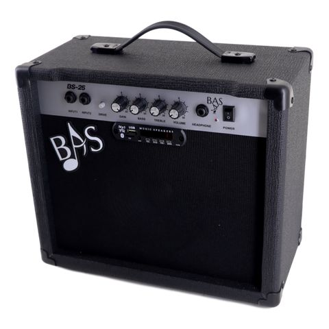 BAS Guitar Amplifier w/Bluetooth 25 watt +Remote