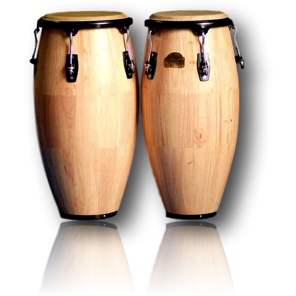 Echoslap Congas Artists Series Natural + Basket Stand