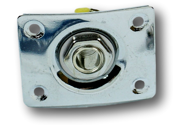 Universal Electric Guitar Output Jack Plate Socket ,Square  Shape Chrome  SQ1(CM)
