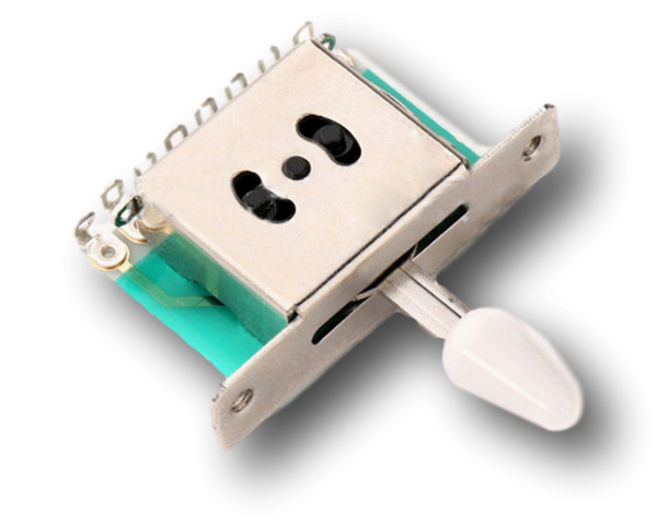Details about  5 Way Pickup Selector Switches Toggle Leaver Switch for Tele Strat Guitar White Button