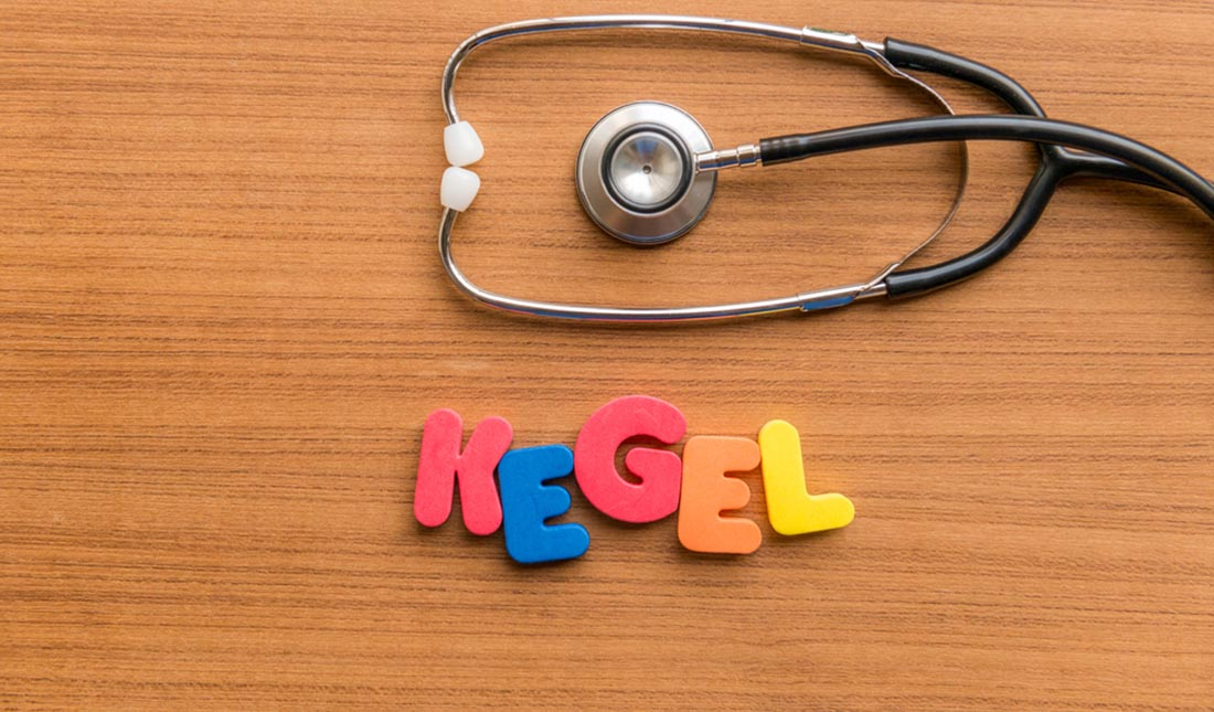 kegel lettering with stethoscope