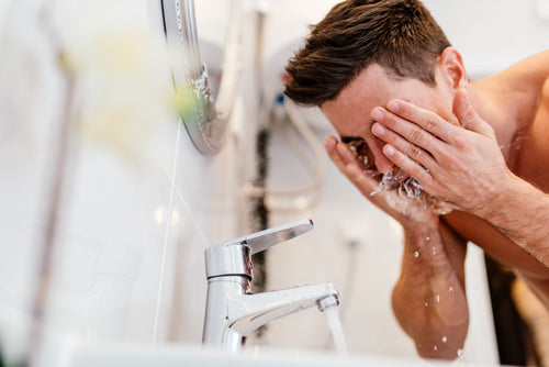 Image result for Not Washing Your Face in the Morning men