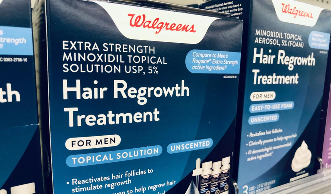 regrowth treatment boxes at walgreens