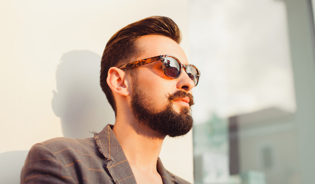 young bearded man posing