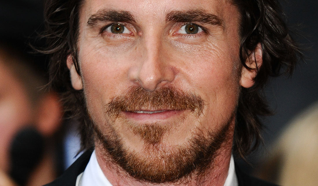 christian bale with beard portrait