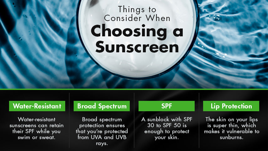 things to consider choosing a sunscreen