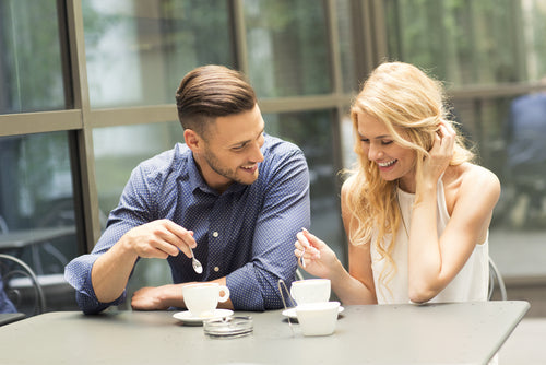 couple having coffee date