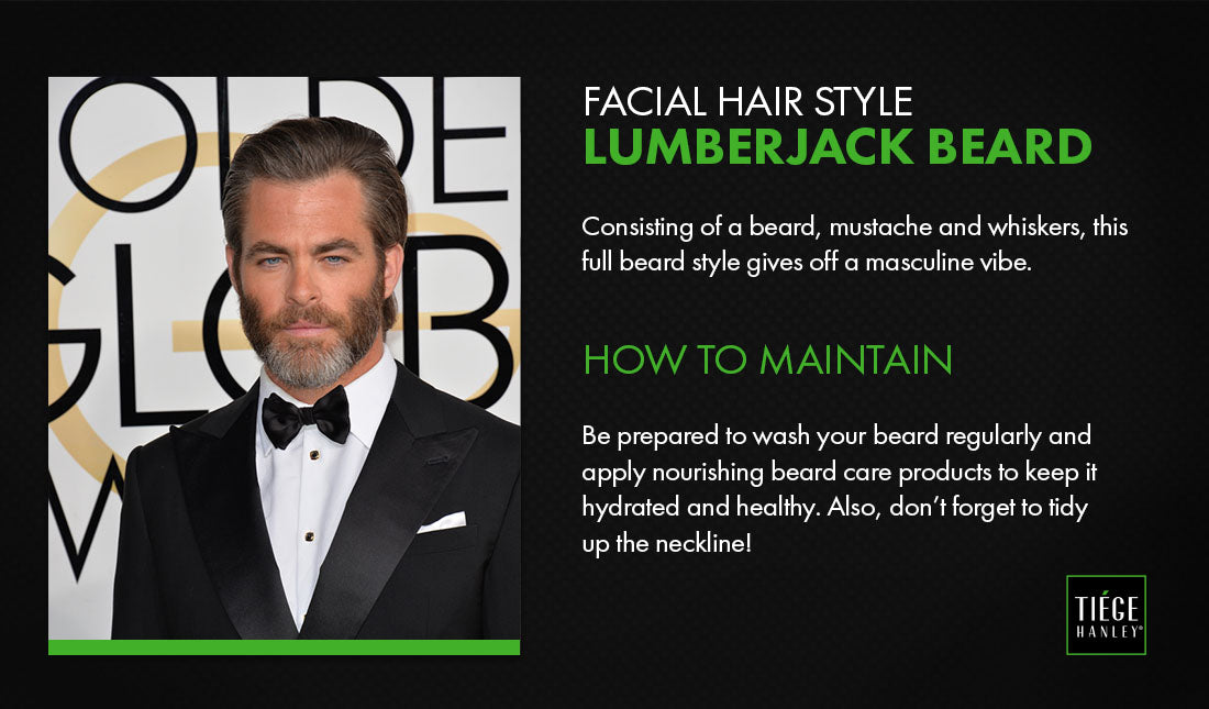 the lumberjack beard graphic