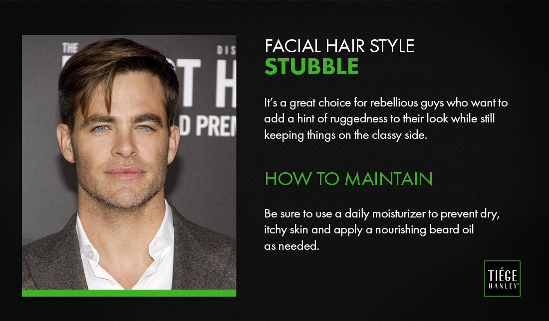 facial hair stubble graphic