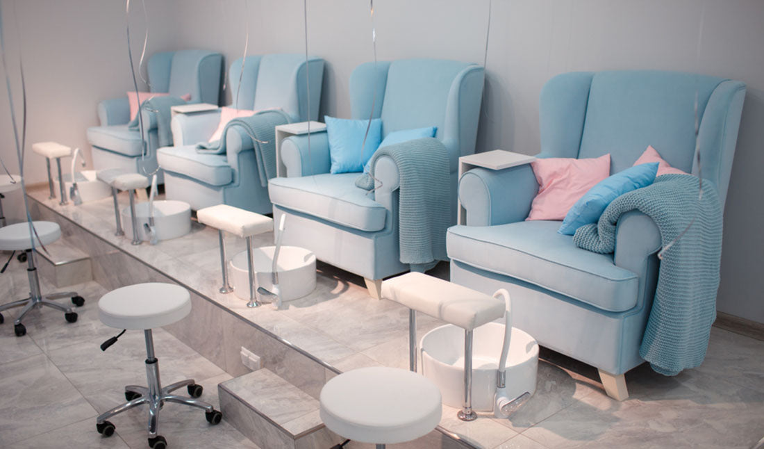 pedicure chairs in salon