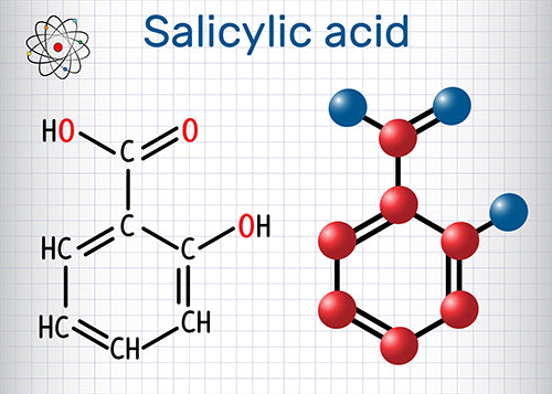 salicylic acid molecule illustration