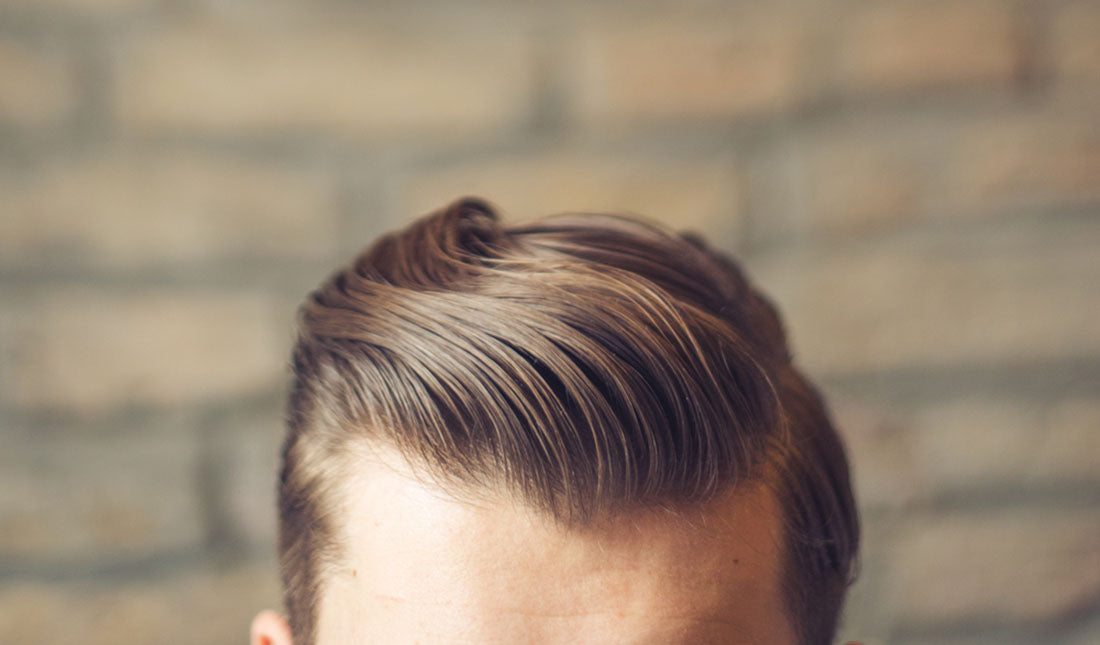 top of head styled hair