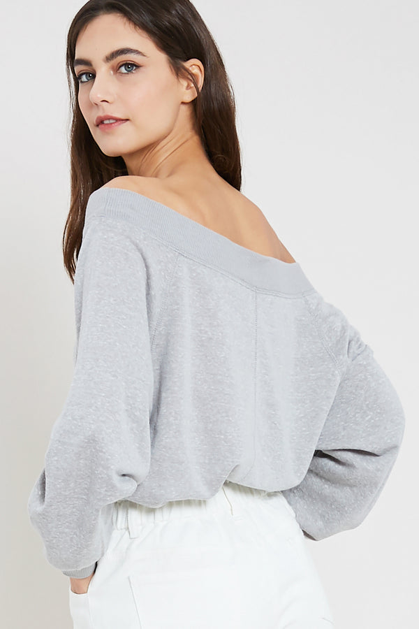 Laid Back Top Grey