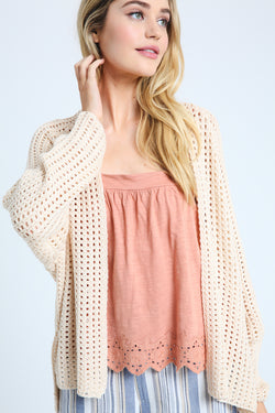 Summer Knit Sweater Natural